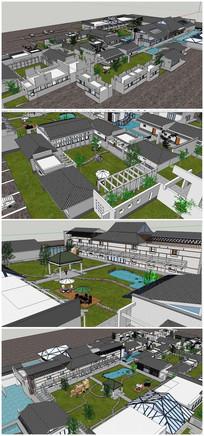 中式住宅古建筑SU模型