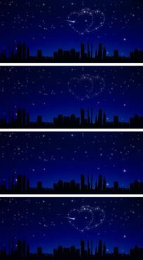 城市夜空浪漫爱情一箭穿心视频