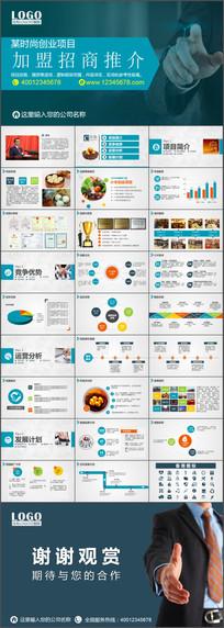 创业项目加盟招商PPT模板