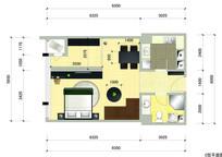 单身公寓户型 PSD