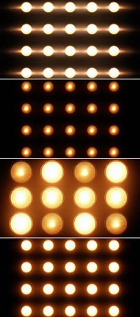 多个闪烁灯光视频素材