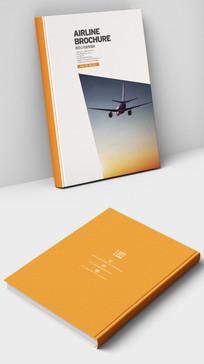 国际航空飞机宣传册封面