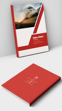 红色大气高铁集团企业画册封面