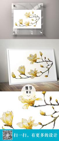 花卉装饰立体画 PSD