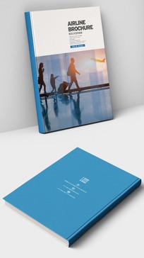 机场航空公司商业杂志画册封面