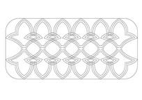 连续花瓣元素石雕纹样