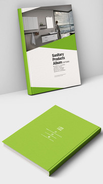 绿色现代厨卫产品画册封面