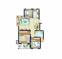 三室一厅小户型 PSD