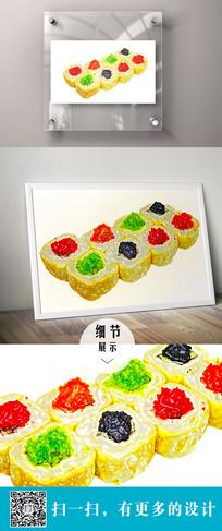 寿司设计立体装饰画 PSD
