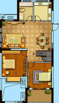 现代城市住宅简约户型图
