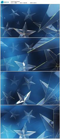 循环五角星舞台背景视频素材