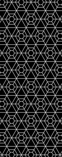 线性六边形图案