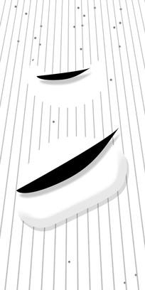 干净黑白高档装饰画