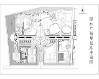广场绿化规划总平面图 dwg
