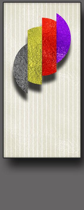 几何彩色抽象装饰画