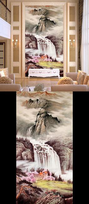 巨幅国画山水画风景画玄关
