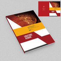 欧式吊灯商业宣传册封面设计