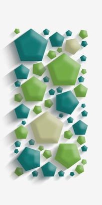 清新立体几何图形装饰画