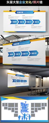 企业发展文化展板背景墙