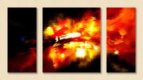 三拼抽象油画