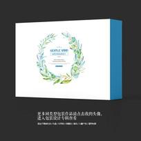 唯美家纺用品商业包装盒设计