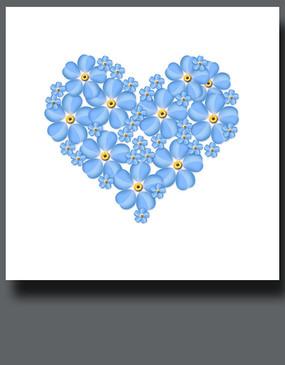 唯美蓝色花卉装饰画