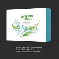 小清新绿色工艺品包装设计