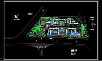 休闲广场概念规划平面图 dwg