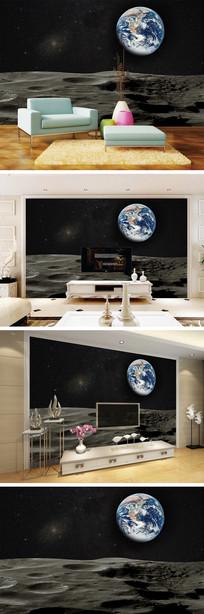 月球地球背景墙