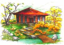 带庭院的私家别墅
