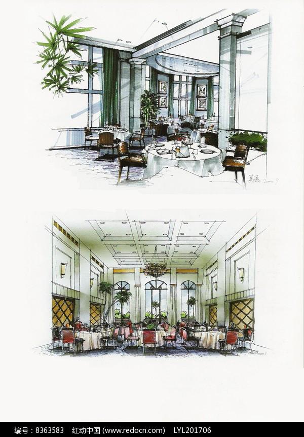 原创设计稿 方案意向 手绘素材 简欧风餐厅  请您分享: 红动网提供