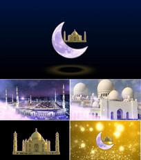 穆斯林古兰经诵读背景开场视频 mov