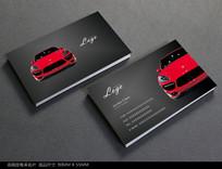 时尚汽车名片设计模板 PSD