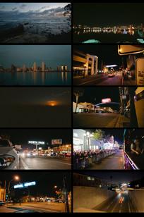 抒情延时城市夜景摄影视频 mp4