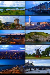 延时欧洲城市风景宣传视频