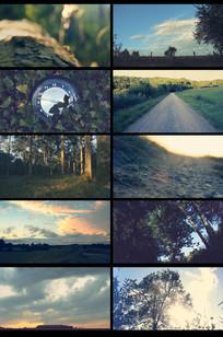 延时摄影乡村度假休闲旅游视频