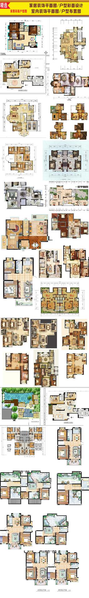 PSD分层室内装饰平面图