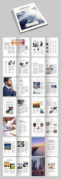 创意企业画册宣传册排版模板