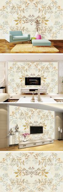大理石纹花纹背景墙