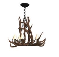 工业风树枝装饰吊灯 skp