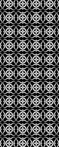 黑白十字花纹图案