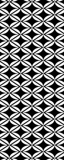 黑白重叠雕刻图案