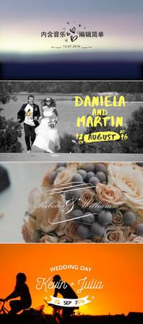 婚礼字幕人名条日期标题模板