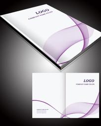 简洁线条画册封面设计