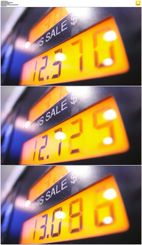 加油上升的价格实拍视频素材 mov