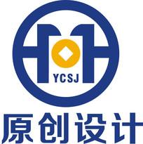 金融铜钱logo设计