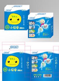 时尚可爱的乐智彩蓝色卡通盒 AI