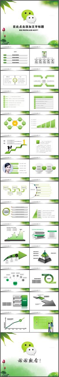 微信营销动态ppt模板