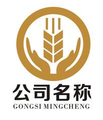 小麦大米双手logo