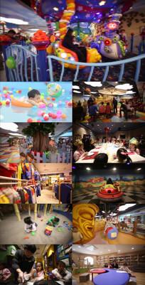 儿童游乐园高清视频素材